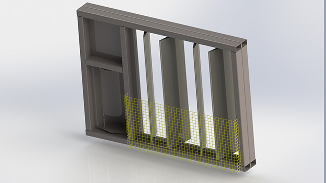 Damper Wall with Rotary